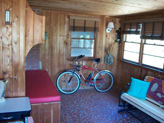 Back area of enclosed porch